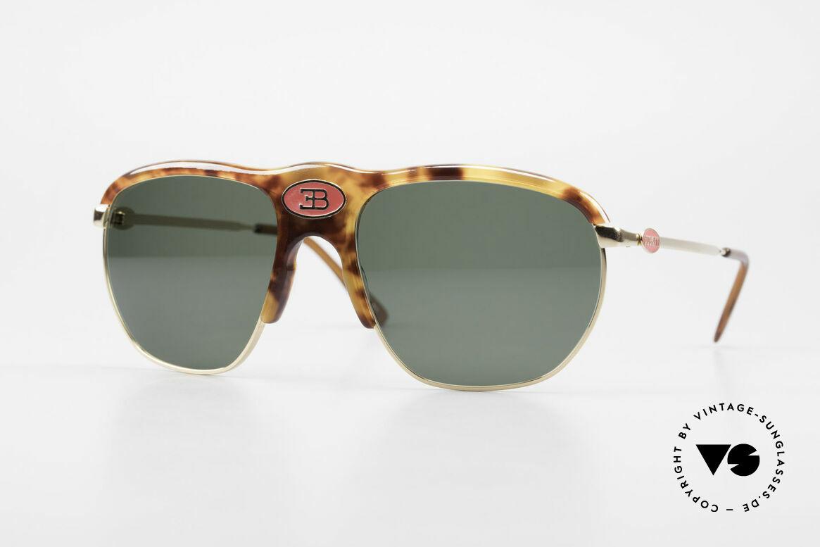 Bugatti 65218 Seltene Alte 70er Bugatti Brille, sehr seltene Bugatti VINTAGE Luxus-Sonnenbrille, Passend für Herren