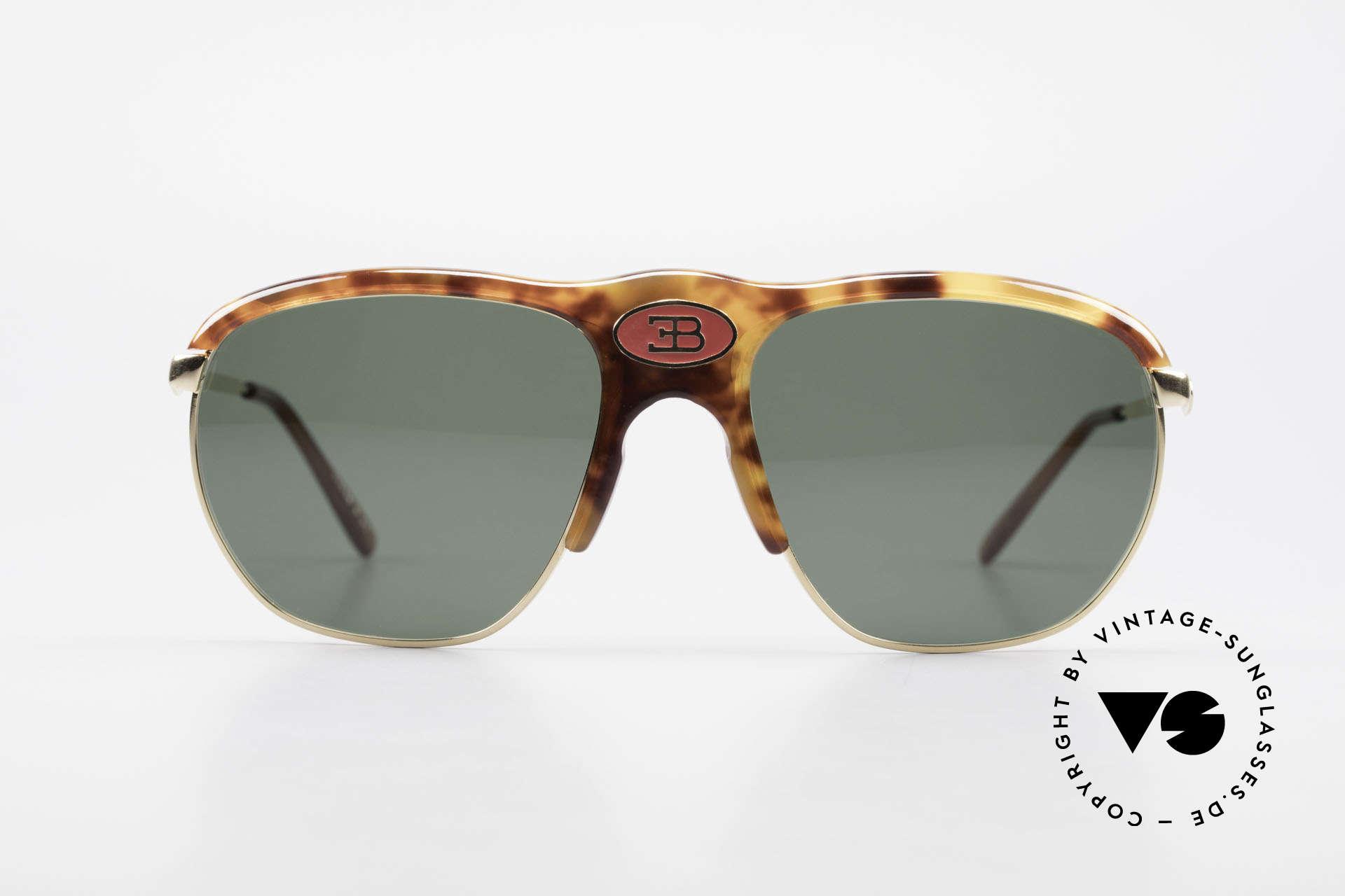 Bugatti 65218 Seltene Alte 70er Bugatti Brille, elegante Schildpatt-Optik (Original aus den 70ern), Passend für Herren