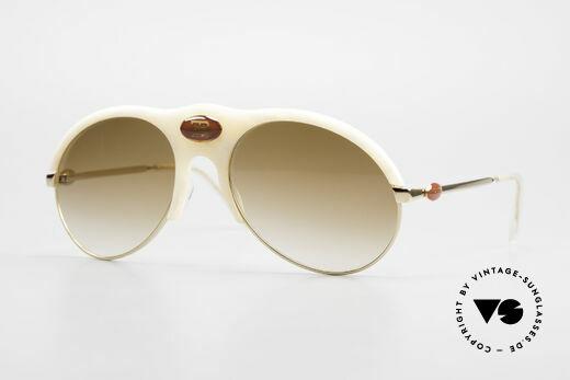 Bugatti 64748 Elfenbein Optik 70er Brille Details