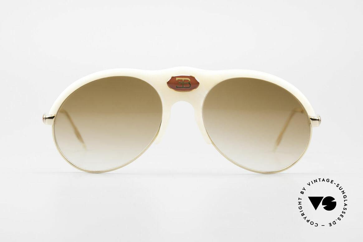 Bugatti 64748 Elfenbein Optik 70er Brille, kunstvolle Elfenbein-Optik (Original aus den 70ern), Passend für Herren