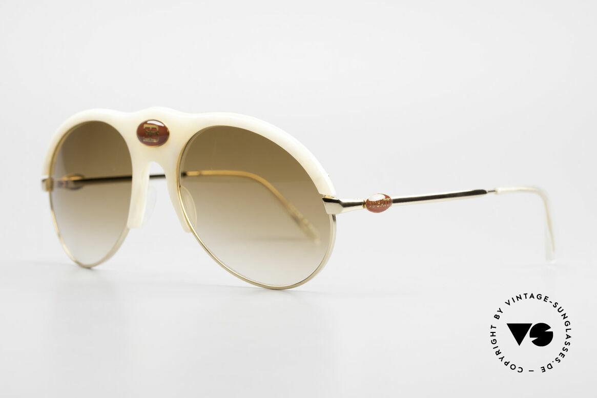 Bugatti 64748 Elfenbein Optik 70er Brille, kostbare RARITÄT und ein absolutes Sammlerstück!, Passend für Herren