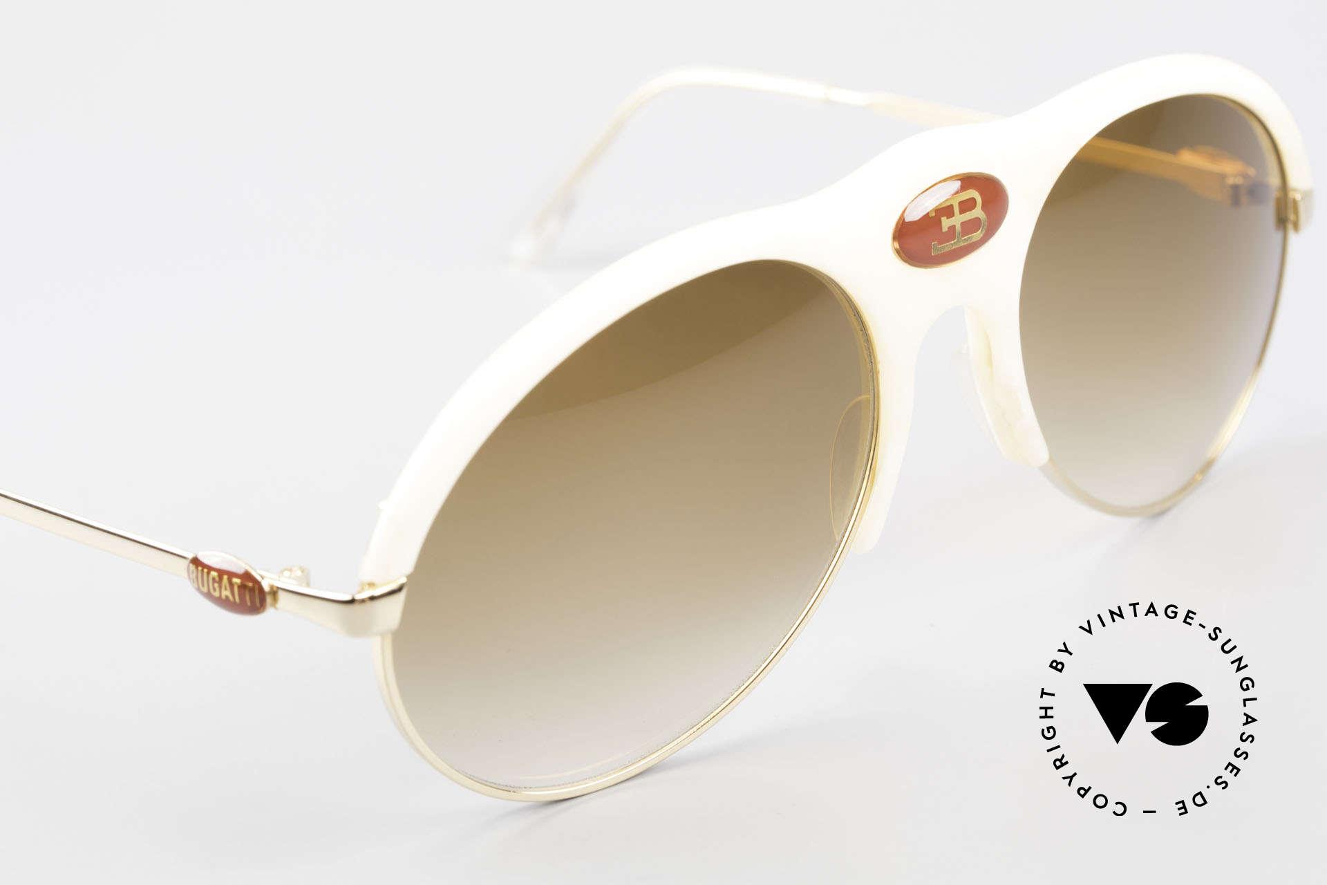 Bugatti 64748 Elfenbein Optik 70er Brille, ungetragen (wie alle unsere alten BUGATTI Unikate), Passend für Herren