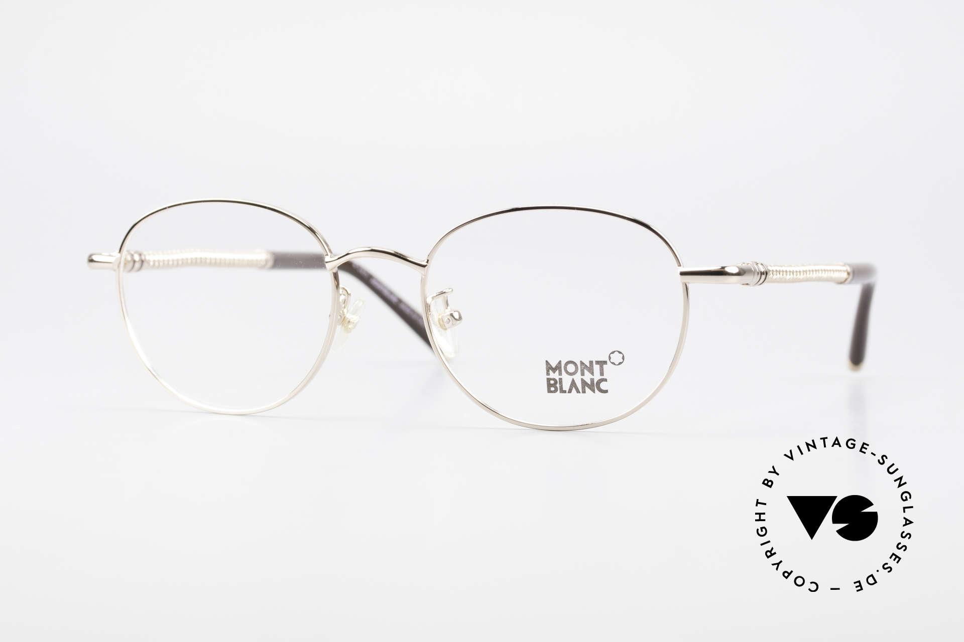 Montblanc MB392 Luxus Pantobrille Roségold, Mont Blanc Luxusbrille, 392, col. 028, Gr. 51/19, 145, Passend für Herren und Damen