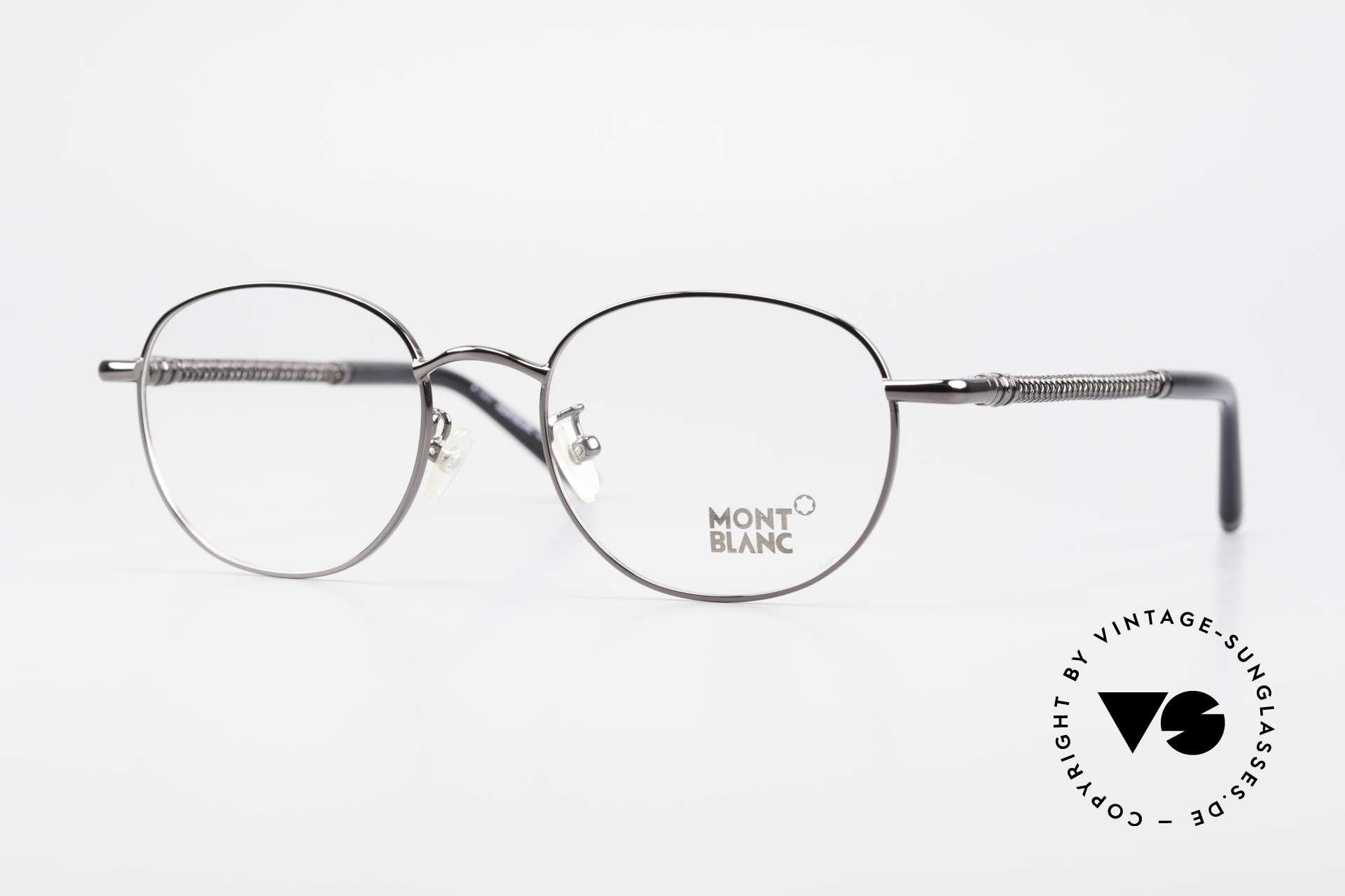 Montblanc MB392 Luxus Pantobrille Gunmetal, Mont Blanc Luxusbrille, 392, col. 012, Gr. 51/19, 145, Passend für Herren und Damen