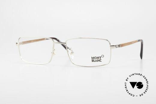 Montblanc MB389 Vergoldete Herren Holzbrille Details
