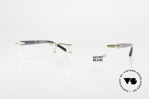 Montblanc MB337 Randlosbrille Vergoldet Luxus Details