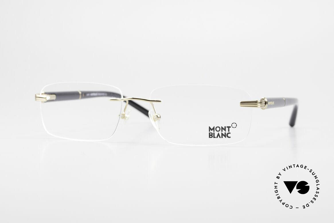 Montblanc MB337 Randlosbrille Vergoldet Luxus, randlose Mont Blanc Brille, 337 in Größe 57/16, 140, Passend für Herren