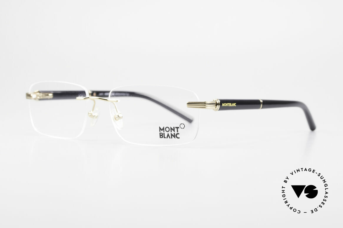 Montblanc MB337 Randlosbrille Vergoldet Luxus, die vergoldete Fassung kann beliebig verglast werden, Passend für Herren