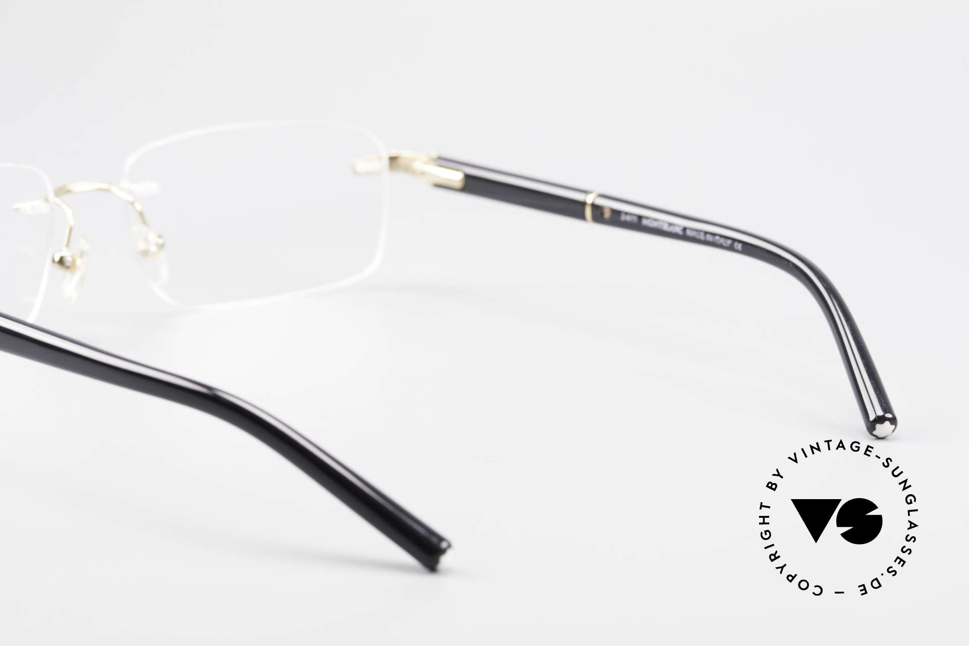 Montblanc MB337 Randlosbrille Vergoldet Luxus, KEINE Retrobrille, sondern ein Original von ca. 1999, Passend für Herren