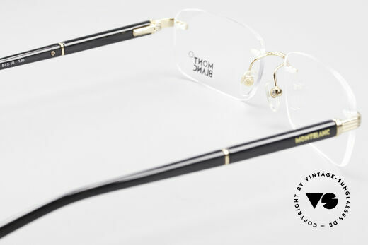 Montblanc MB337 Randlosbrille Vergoldet Luxus, elegante vintage LUXUSbrille; eher eine Herrenform, Passend für Herren