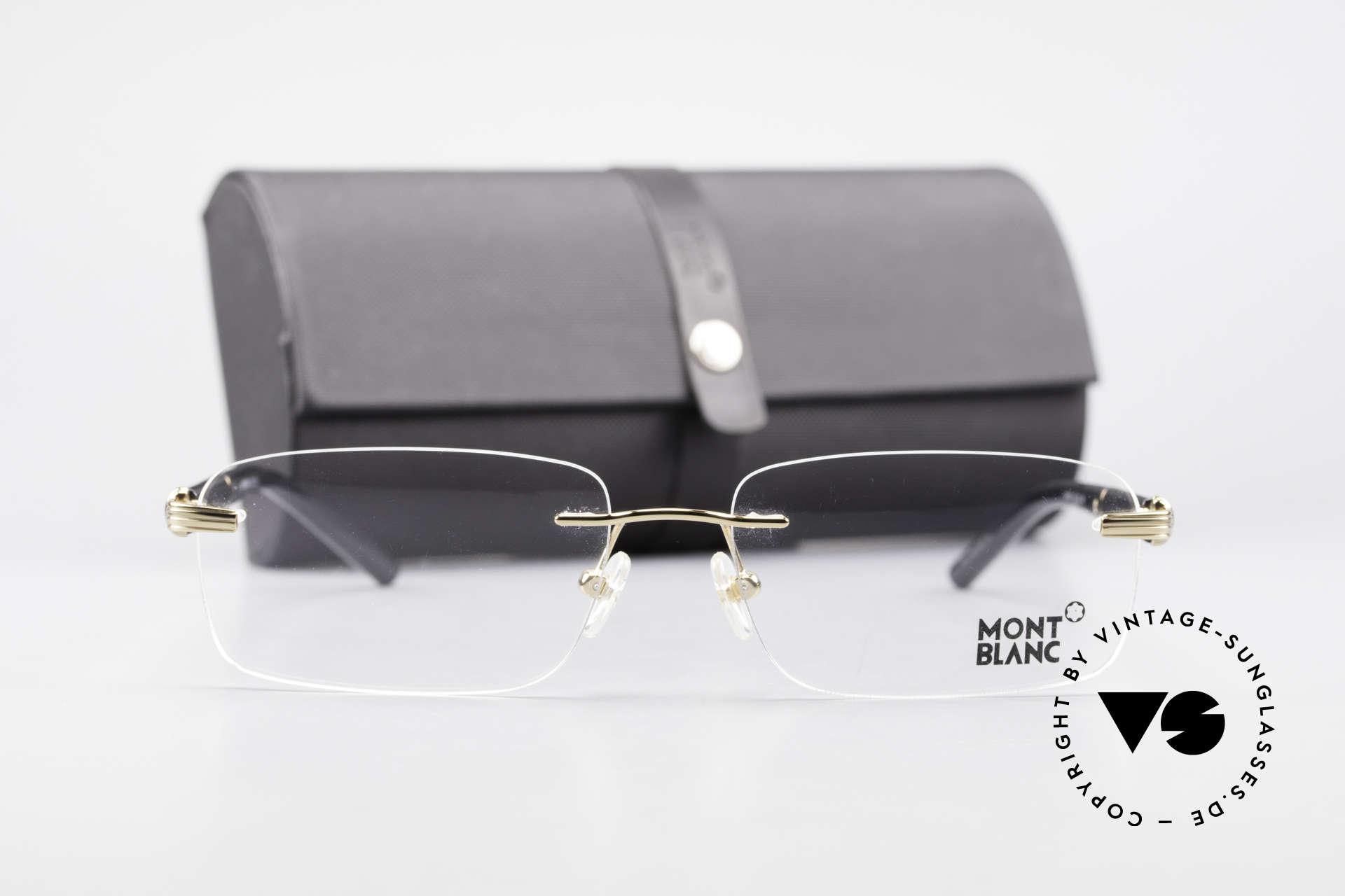 Montblanc MB337 Randlosbrille Vergoldet Luxus, Größe: medium, Passend für Herren