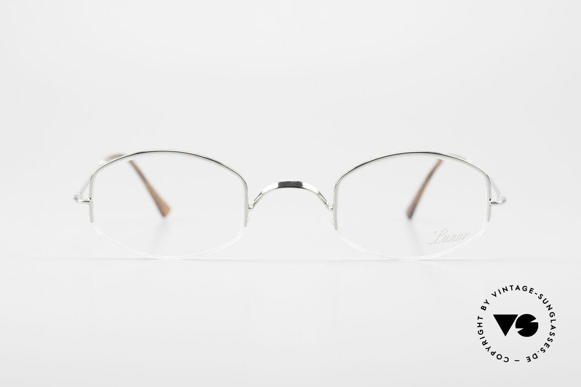 Lunor Classic Halb Randlose Vintage Brille, deutsches Traditionsunternehmen; made in Germany, Passend für Herren und Damen