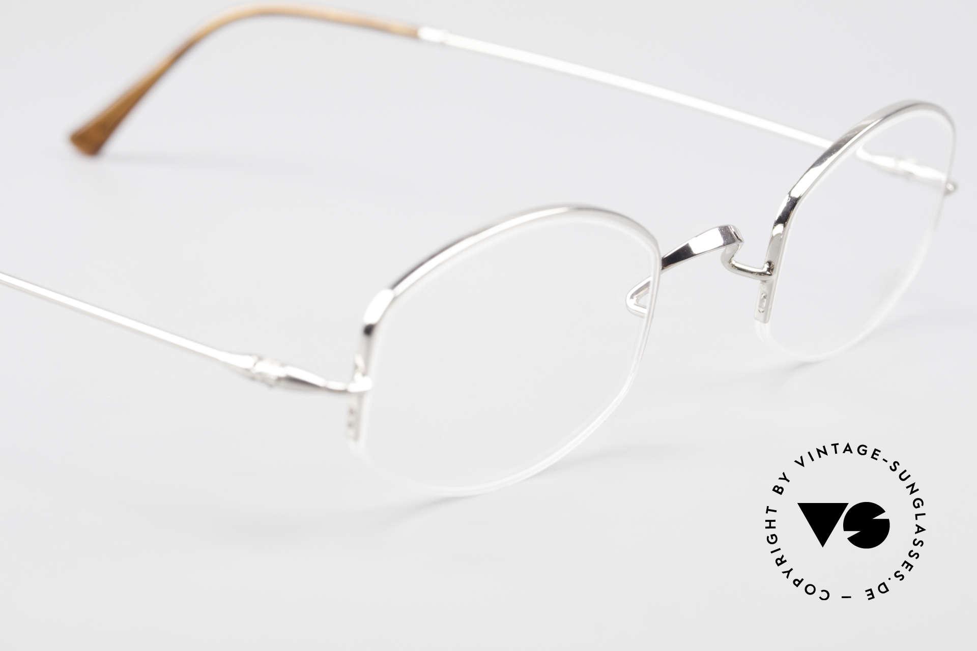 Lunor Classic Halb Randlose Vintage Brille, altes, ungetragenes LUNOR Einzelstück von ca. 1999, Passend für Herren und Damen