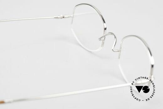 Lunor Classic Halb Randlose Vintage Brille, 115mm Breite = daher eine sehr KLEINE Lunor Brille, Passend für Herren und Damen