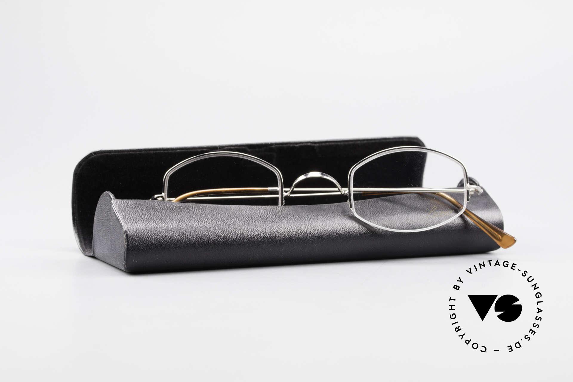 Lunor Classic Halb Randlose Vintage Brille, Größe: extra small, Passend für Herren und Damen