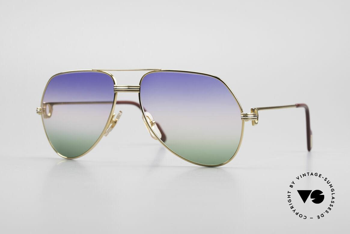 Cartier Vendome LC - M Michael Douglas Sonnenbrille, Vendome = das berühmteste Brillendesign von CARTIER, Passend für Herren