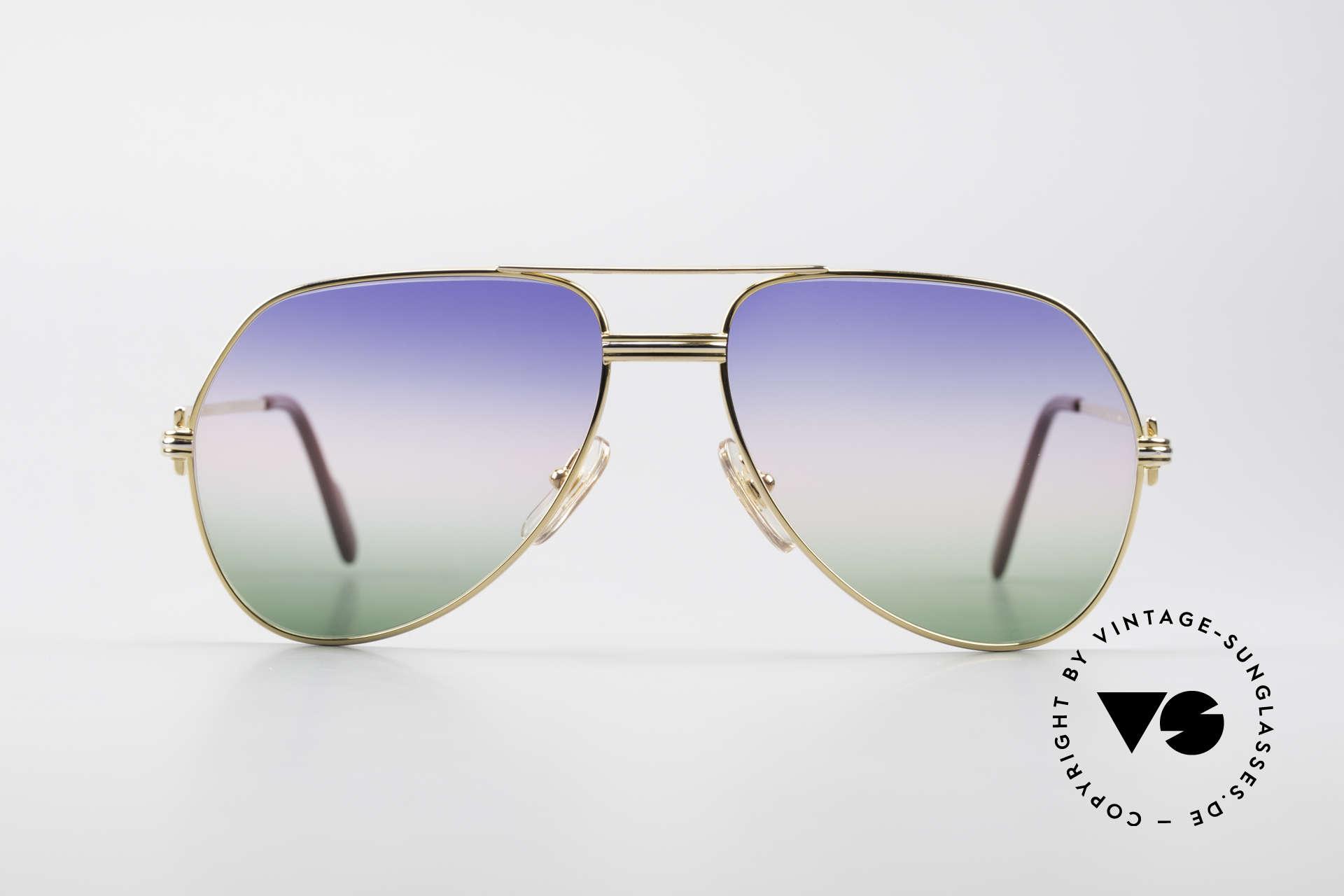 Cartier Vendome LC - M Michael Douglas Sonnenbrille, wurde 1983 veröffentlicht & dann bis 1997 produziert, Passend für Herren