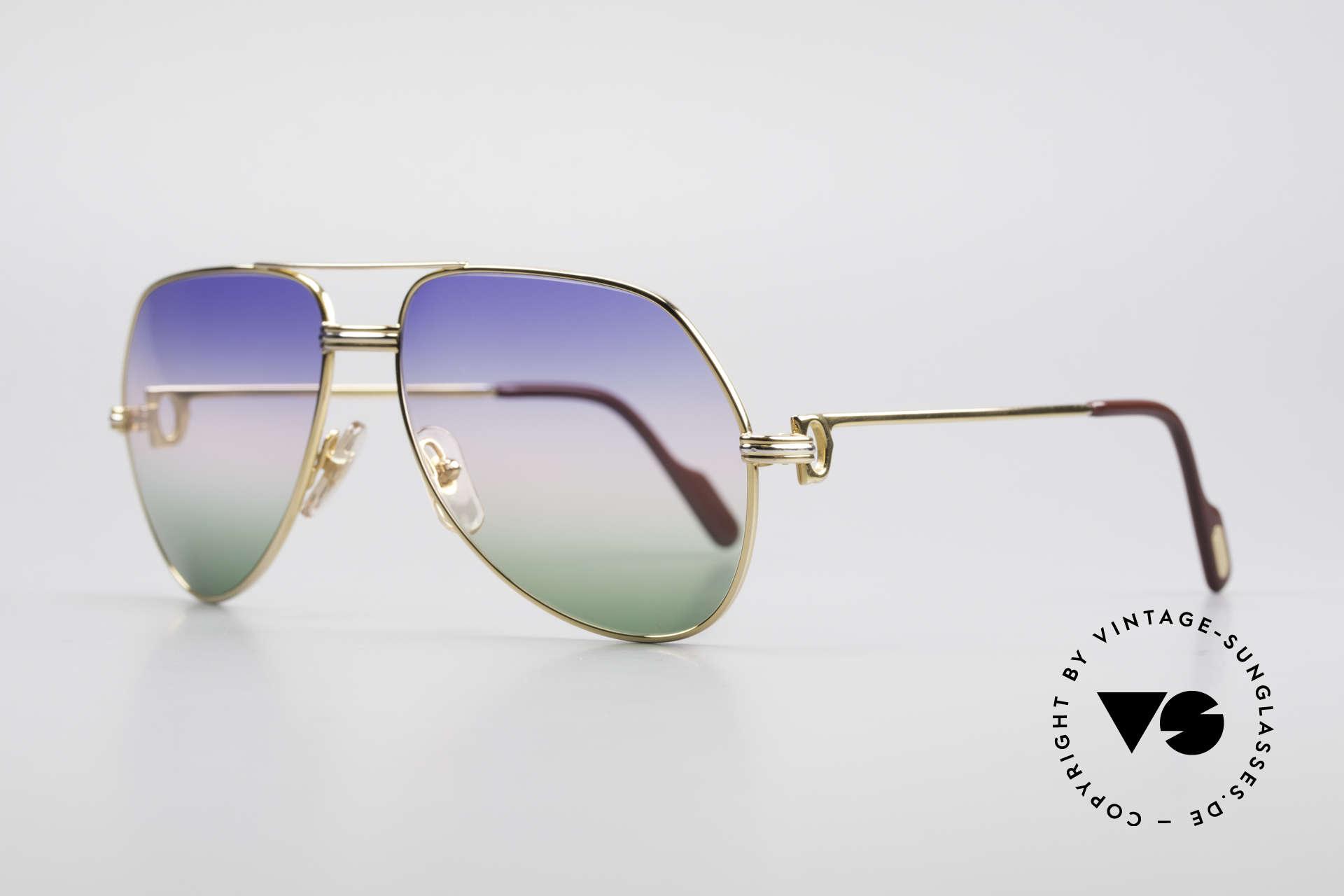 Cartier Vendome LC - M Michael Douglas Sonnenbrille, dieses Modell mit LC-Dekor in MEDIUM Gr. 59-16, 140, Passend für Herren