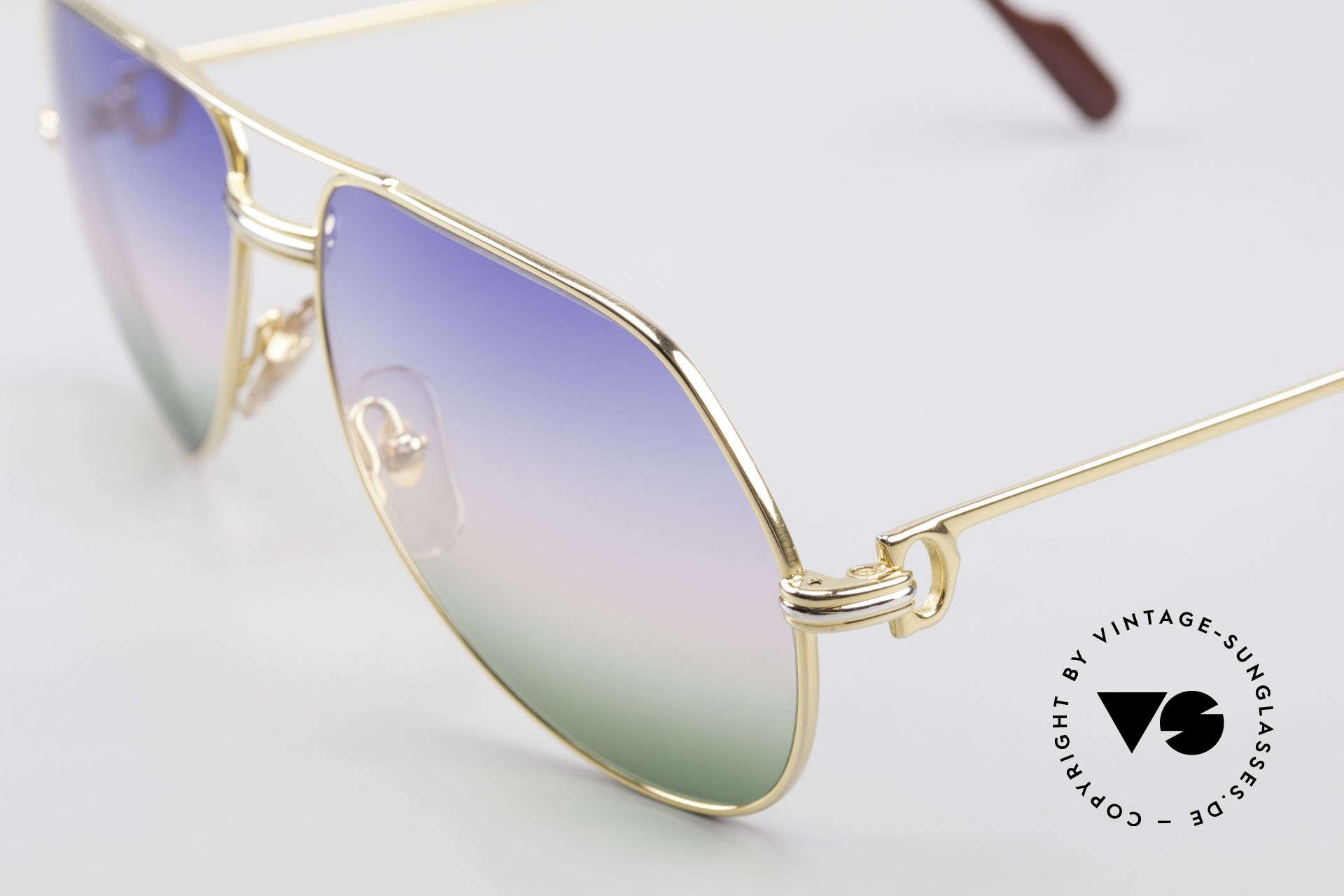Cartier Vendome LC - M Michael Douglas Sonnenbrille, u.a. getragen von Michael Douglas ('Wall Street', 1987), Passend für Herren