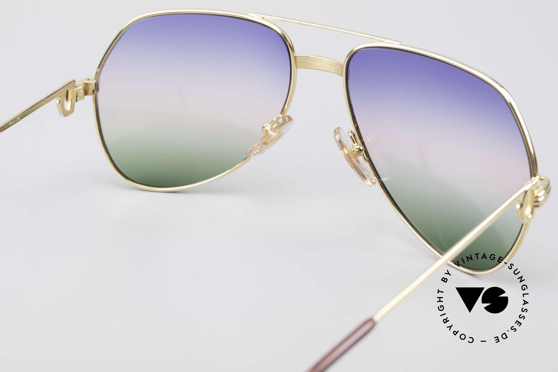 Cartier Vendome LC - M Michael Douglas Sonnenbrille, 2nd hand Modell im neuwertigen Zustand + Cartier Box, Passend für Herren