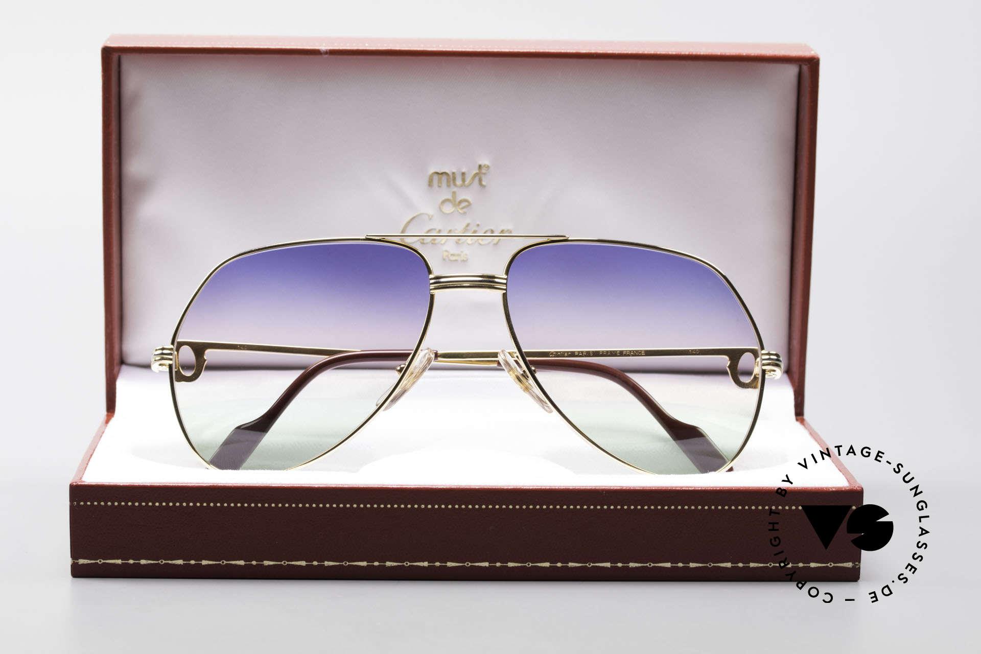 Cartier Vendome LC - M Michael Douglas Sonnenbrille, KEINE Retrobrille, sondern ein altes vintage ORIGINAL, Passend für Herren