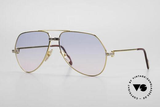 Cartier Vendome Santos - M Rare 80er Luxus Sonnenbrille Details