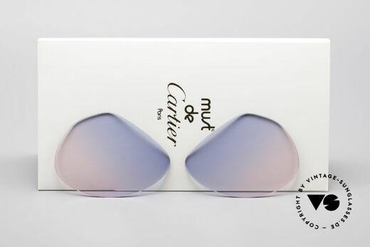 Cartier Vendome Lenses - M Sonnenglas Blau Pink Verlauf Details
