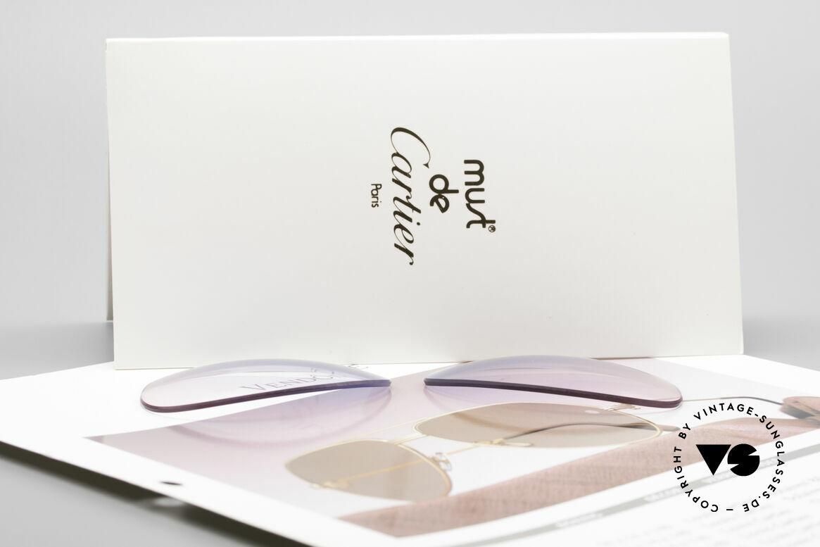 Cartier Vendome Lenses - M Sonnenglas Blau Pink Verlauf, von unserem Optiker gefertigt: daher neu & kratzerfrei, Passend für Herren
