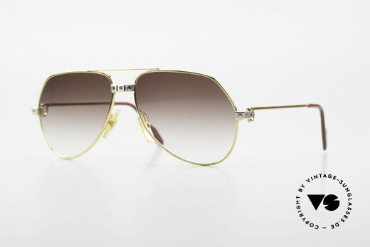 Cartier Vendome Santos - S Rare Aviator Sonnenbrille 80er Details