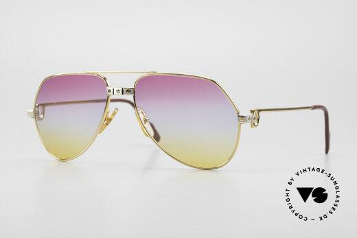 Cartier Vendome Santos - S Luxus Aviator Sonnenbrille Details