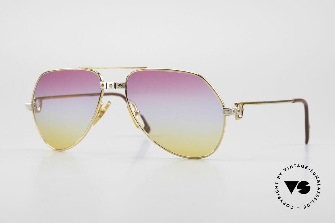 Cartier Vendome Santos - S Luxus Aviator Sonnenbrille
