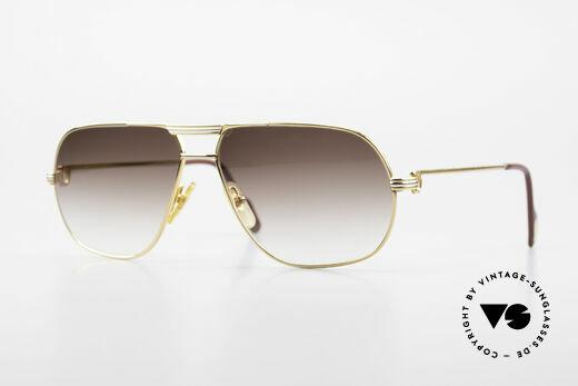 Cartier Tank - L 80er Vintage Luxus Herrenbrille Details