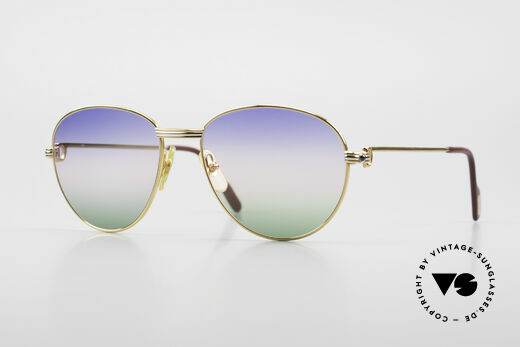 Cartier S Saphirs 0,94 ct Edelstein Sonnenbrille Panto Details