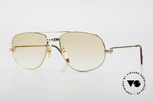 Cartier Romance Santos - L Luxus Vintage Sonnenbrille Details