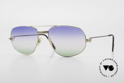 Cartier Romance Santos - L Palladium Luxus Sonnenbrille Details