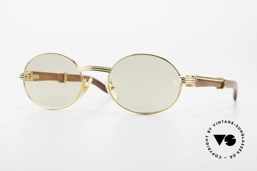 Cartier Giverny Ovale Edelholz Sonnenbrille Details