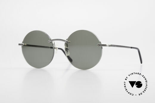 Cartier T-Eye Madison Runde Luxus Sonnenbrille Details