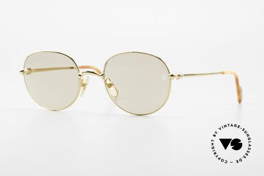 Cartier Antares Runde 90er Luxus Sonnenbrille Details