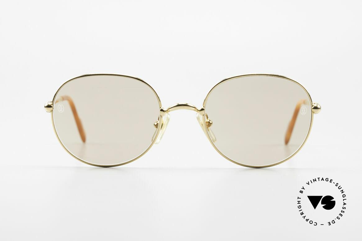 Cartier Antares Runde 90er Luxus Sonnenbrille, KLEINE runde Cartier VINTAGE Designer-Sonnenbrille, Passend für Herren und Damen