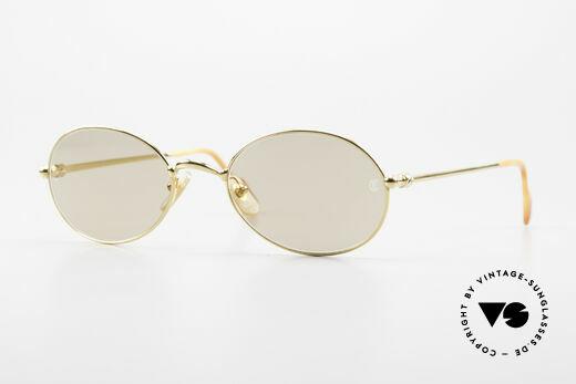 Cartier Saturne - L Ovale 90er Luxus Sonnenbrille Details