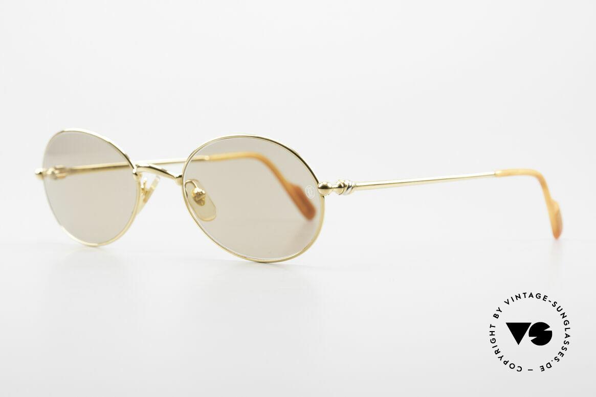 Cartier Saturne - L Ovale 90er Luxus Sonnenbrille