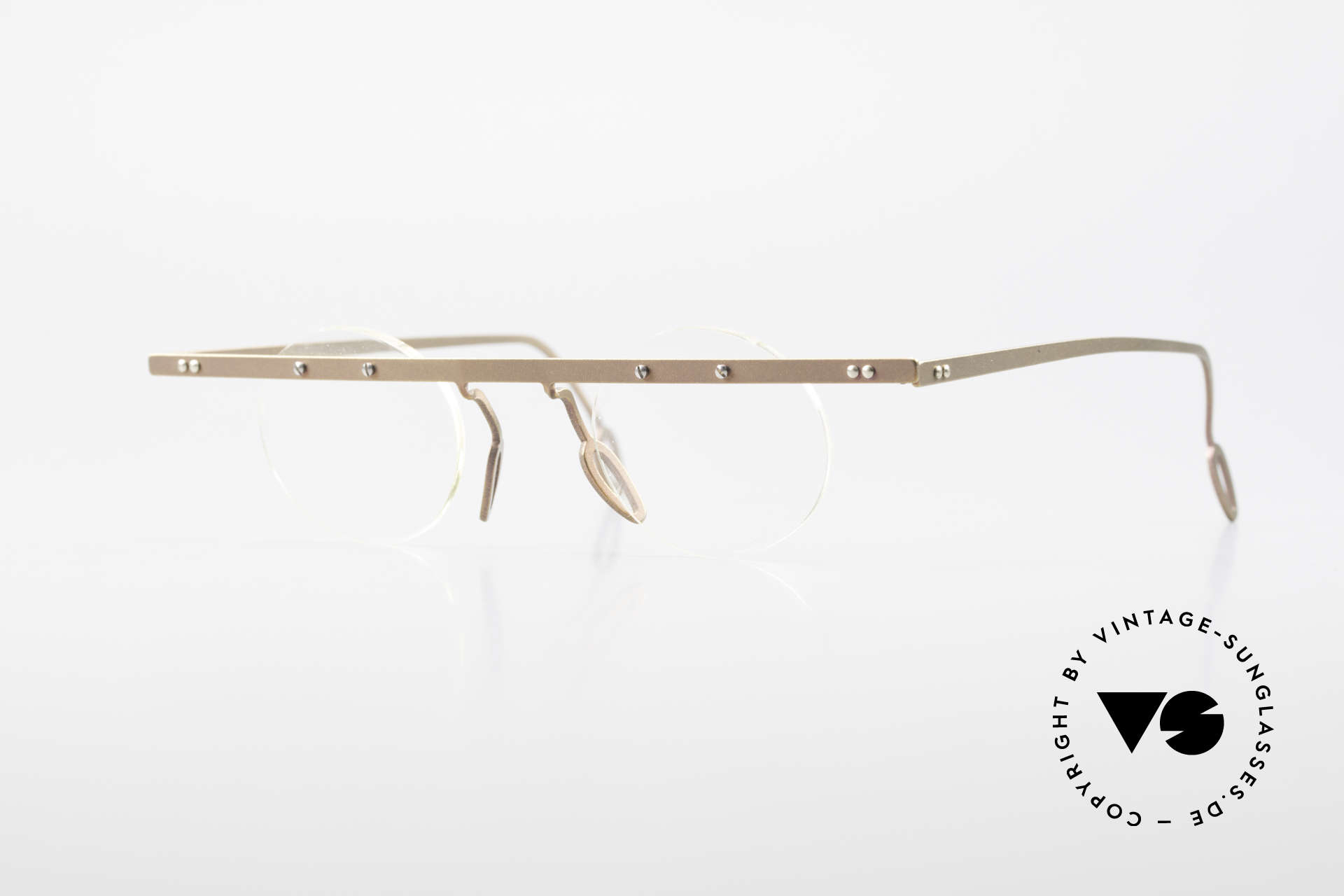 Theo Belgium Tita VII 9 Titanium 90er Vintage Brille, Theo Belgium: die eigenwilligste Brillenmarke, weltweit, Passend für Herren und Damen