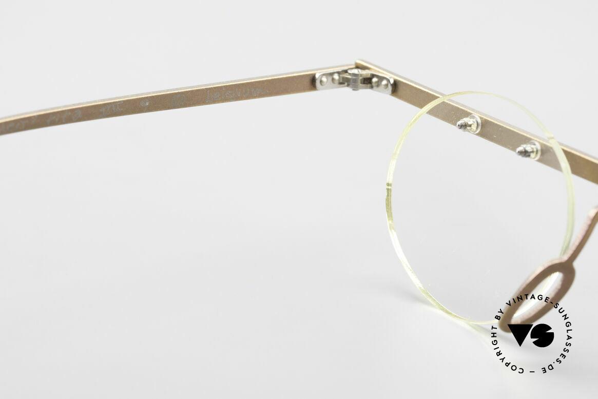 Theo Belgium Tita VII 9 Titanium 90er Vintage Brille, ungetragenes Theo-Original und KEINE RETROBRILLE!, Passend für Herren und Damen