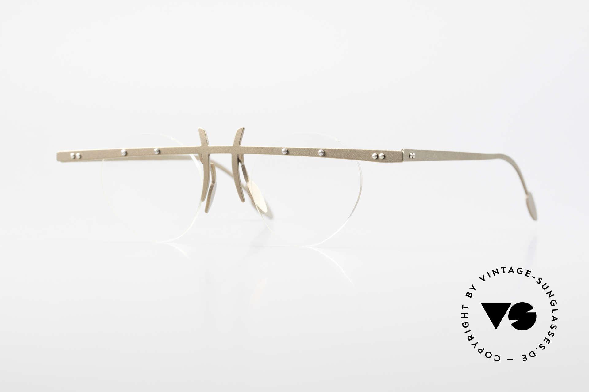 Theo Belgium Tita VI 9 Vintage Brille 90er Titanium, Theo Belgium: die eigenwilligste Brillenmarke, weltweit, Passend für Herren und Damen