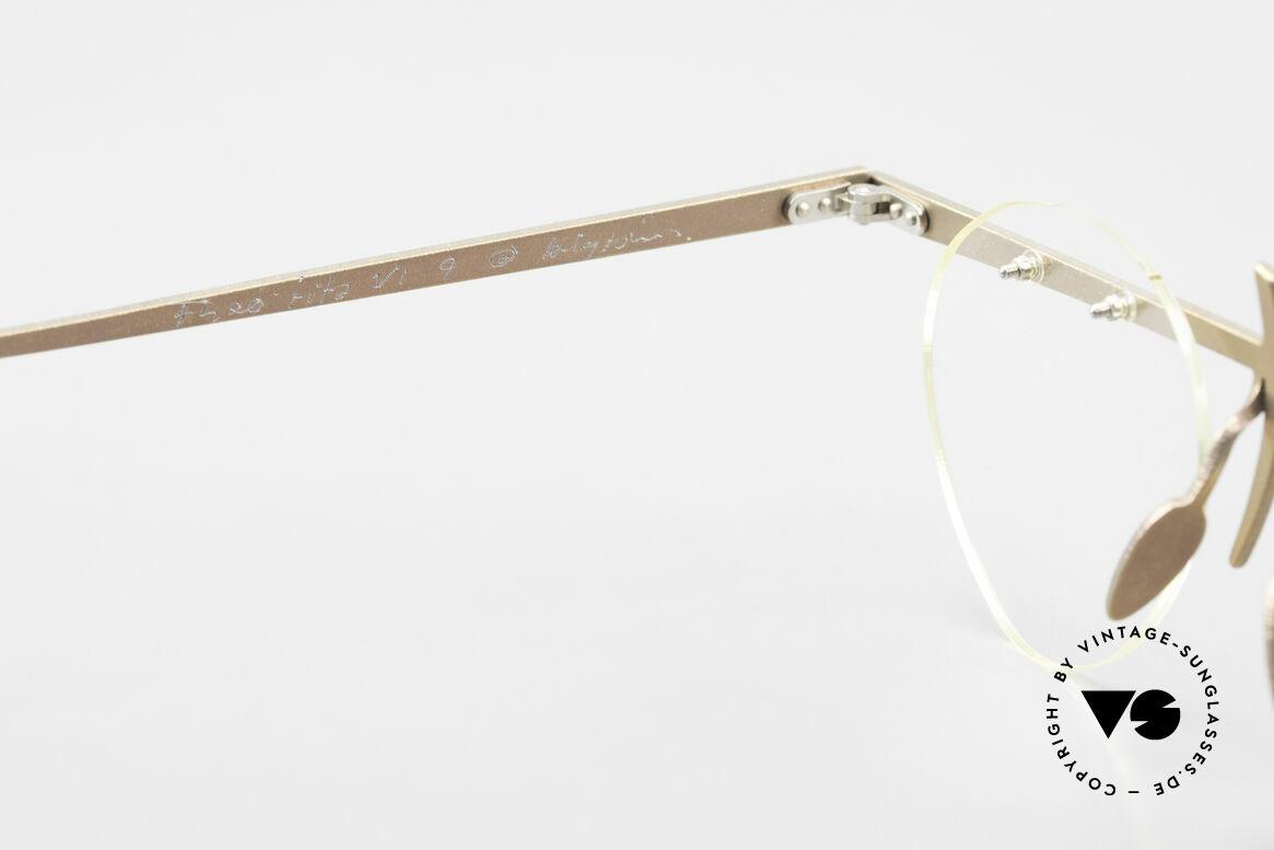 Theo Belgium Tita VI 9 Vintage Brille 90er Titanium, ungetragenes Theo-Original und KEINE RETROBRILLE!, Passend für Herren und Damen