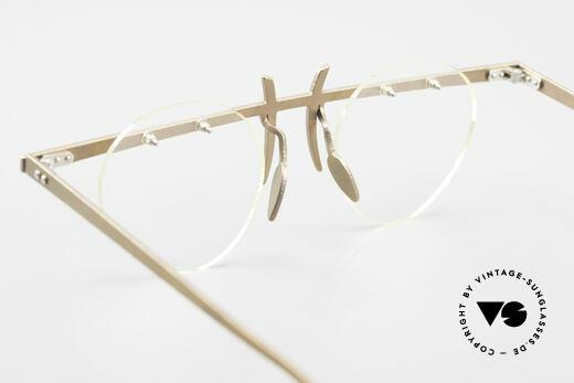 Theo Belgium Tita VI 9 Vintage Brille 90er Titanium, die runden Demo-Gläser können beliebig ersetzt werden, Passend für Herren und Damen
