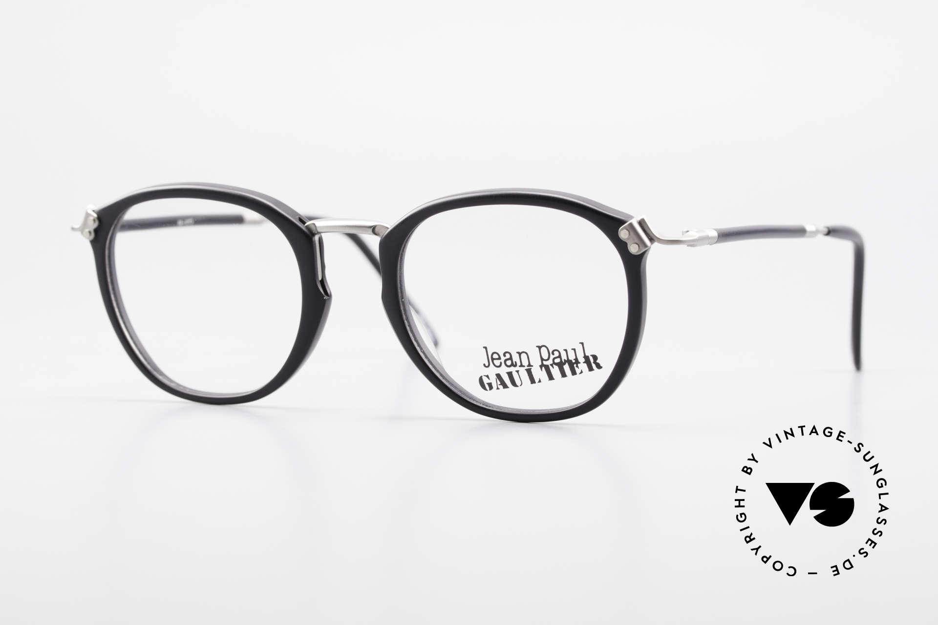 Jean Paul Gaultier 55-1272 Alte Vintage Brille No Retro, 90er Jahre Designerbrille von Jean Paul Gaultier, Paris, Passend für Herren und Damen