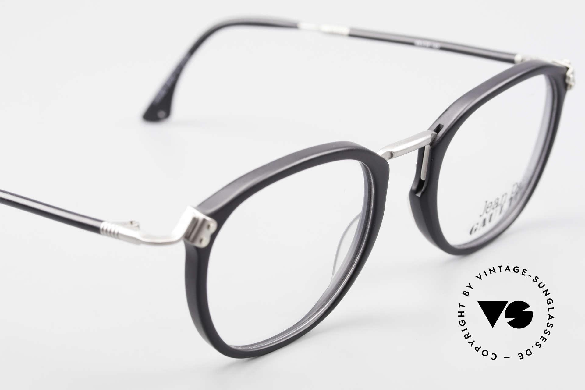 Jean Paul Gaultier 55-1272 Alte Vintage Brille No Retro, die JPG Fassung kann natürlich beliebig verglast werden, Passend für Herren und Damen