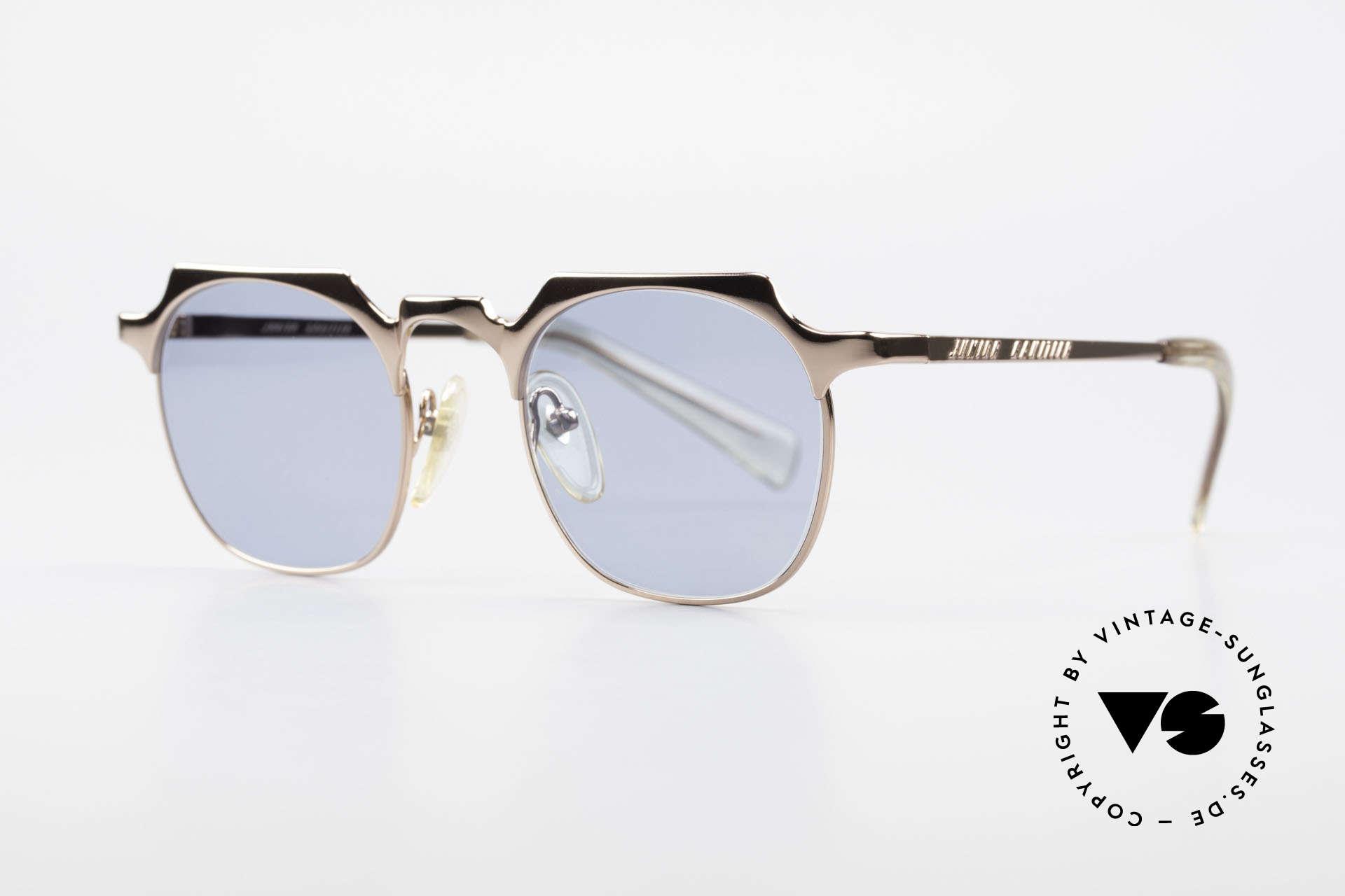 Jean Paul Gaultier 57-0171 Panto Designer Sonnenbrille, die klassische Panto-Form mal eckig interpretiert, Passend für Herren und Damen