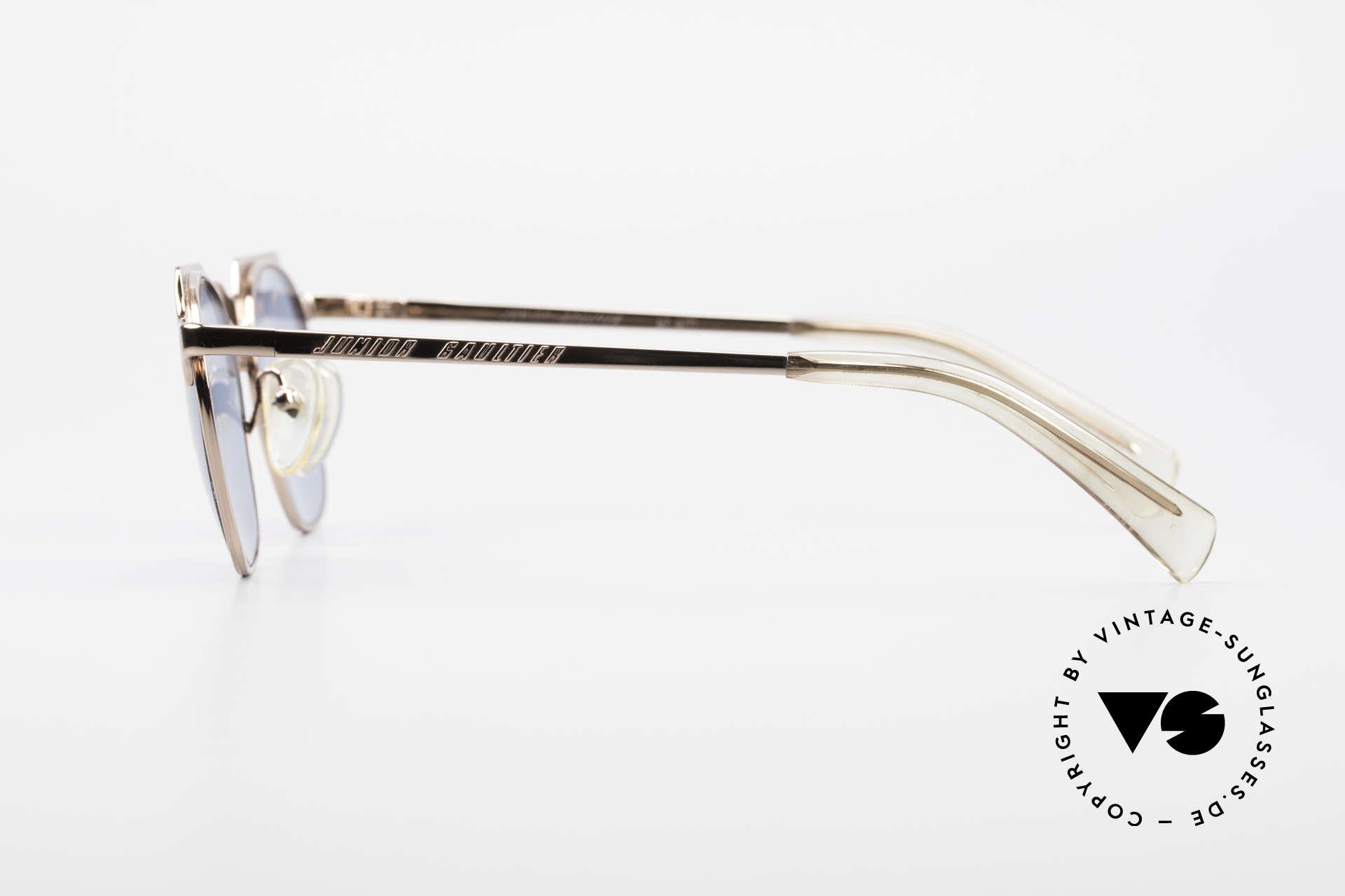 Jean Paul Gaultier 57-0171 Panto Designer Sonnenbrille, zudem einzigartige Lackierung in bronze-metallic, Passend für Herren und Damen
